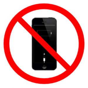 Divieto iPhone scarico in aereo