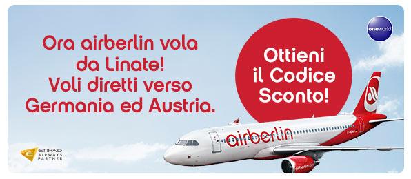 Codice sconto airberlin.com Linate