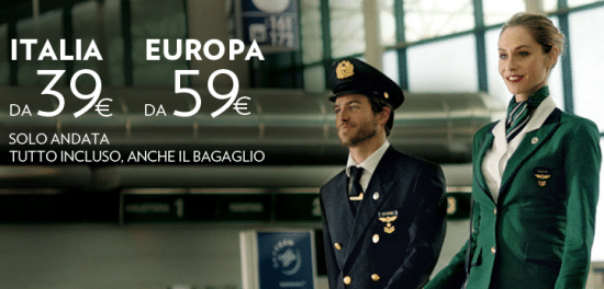 Offerta voli Alitalia da 39 euro