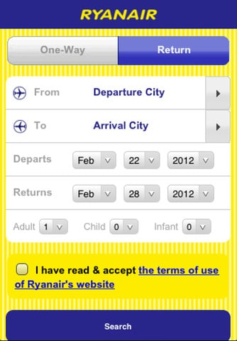 Ryanair iPhone App