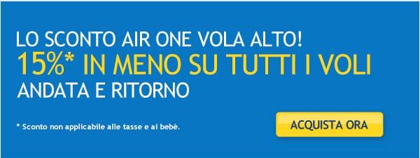 Sconto AirOne 15%