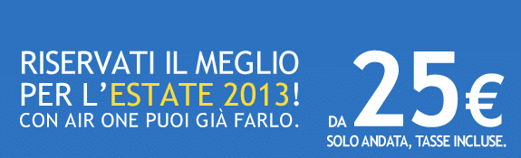 Voli Estate 2013, offerta Airone